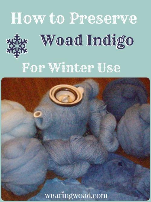 preserving woad indigo