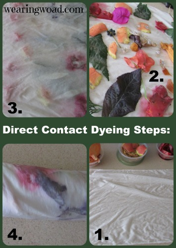 direct contact dyeing steps
