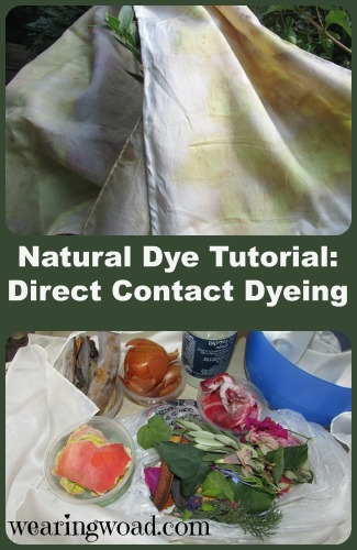 natural dye tutorial direct contact dyeing