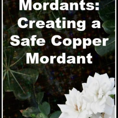 Mordants: How to Safely Prepare a Mild Copper Mordant