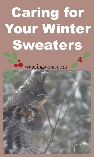 Caring for your Winter sweaters