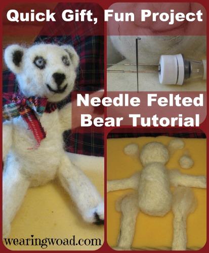 needle felted bear tutorial