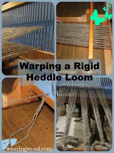 saori weaving tutorial_warping a rigid heddle loom