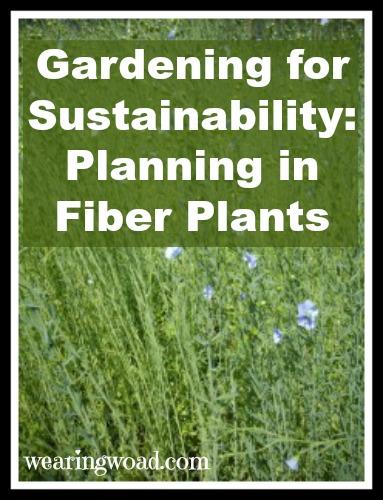 gardening for sustainability plannin in fiber plants