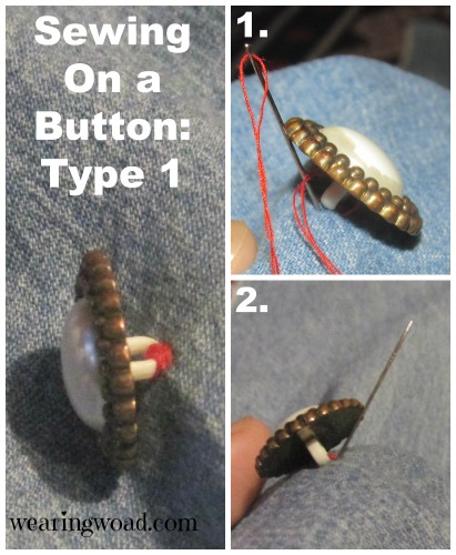 how to sew on a fancy button