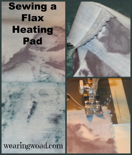 sewing a flax heating pad steps one to three