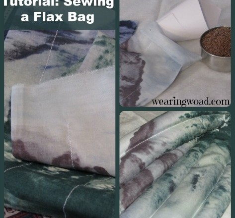 Sew Your Own Flax Seed Microwavable Heating Pad