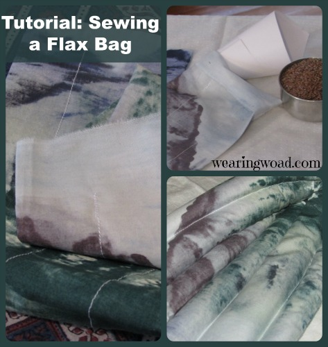 sewing a microwavable flax bag steps four to completion