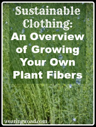 sustainable clothing growing your own plant fibers
