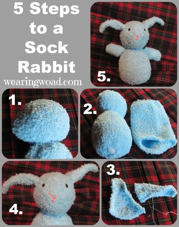 The Five Steps to Sewing your own Sock Rabbit