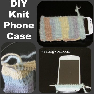Making a Knitted Phone Case from Yarn Scraps
