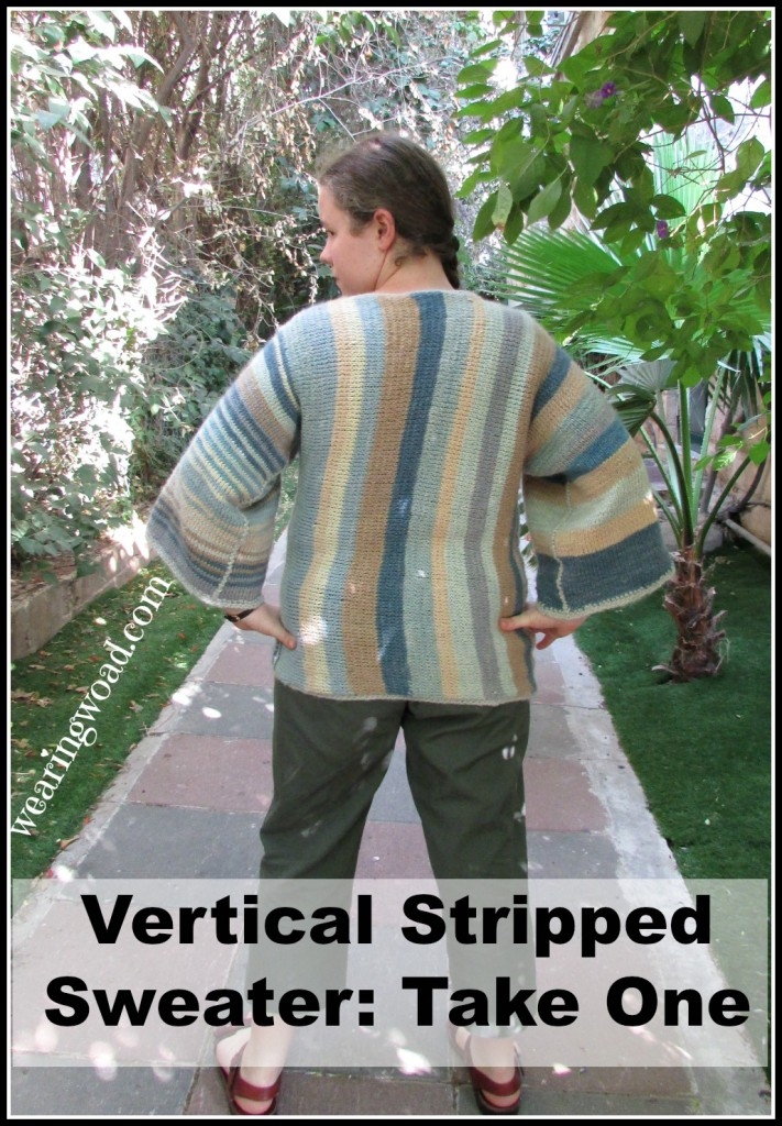 My first attempt at a vertically stripped sweater