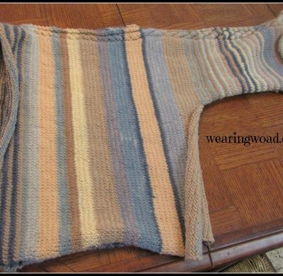 Knitting a Vertically Stripped Sweater: Part Four