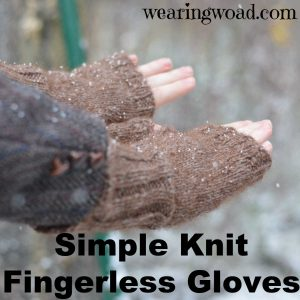 Have fun making simple fingerless gloves for yourself, or for any of your gift giving needs.