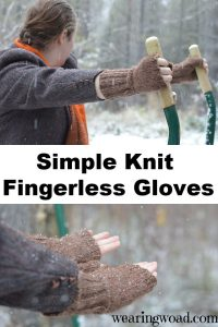Create your own handknit fingerless gloves with this simple pattern.