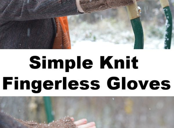 Knitted Fingerless Gloves: Last Minute Gift Idea